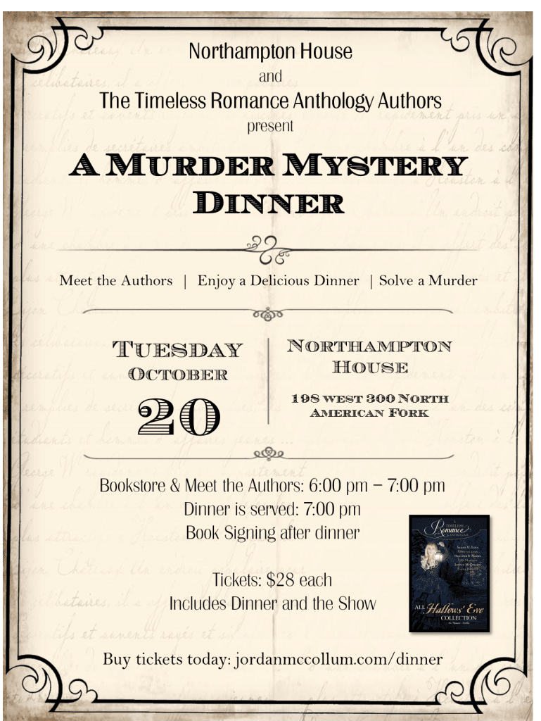 MultiAuthor Murder Mystery Dinner Coming Up – Dinner Tickets Template